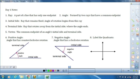 Thumbnail for entry Math 3 Unit 8 Day 1 Lesson