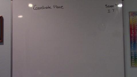 Thumbnail for entry Saxon 7/6 - Investigation 7 - Coordinate Plane