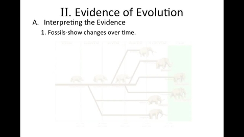 Thumbnail for entry Unit 7 Changes Over Time, Section 2 Evidence of Evolution video