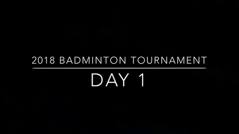 Thumbnail for entry E-Way Badminton Tourney Day 1
