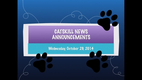 Thumbnail for entry Catskill News Announcements 10.29.14