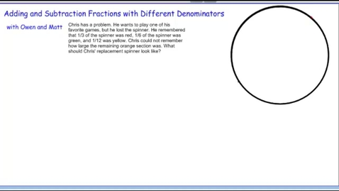 Thumbnail for entry Adding and Subtracting Fractions with Different Denominators