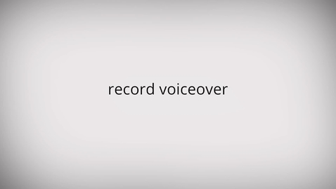 Thumbnail for entry WeVideo: Record Voiceover