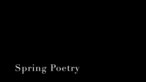 Thumbnail for entry Spring Poetry