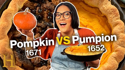 Thumbnail for entry Which original pumpkin pie is better? | Ancient Recipes With Sohla