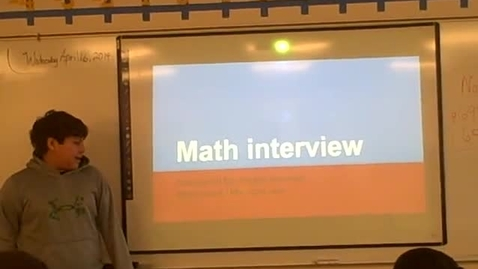 Thumbnail for entry Angelo R math career
