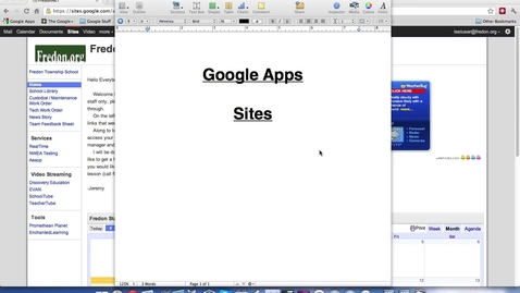 Thumbnail for entry Google Sites