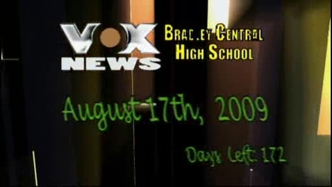 Thumbnail for entry VOX News - Monday August 17, 2009