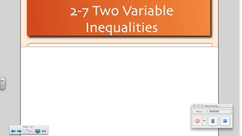 Thumbnail for entry 2-7 Two Variable Inequalities