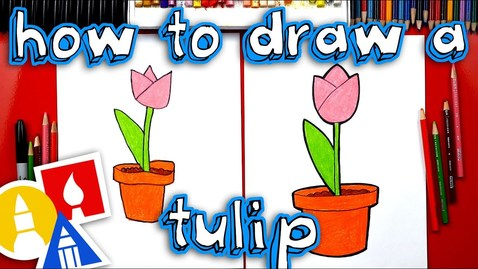 Thumbnail for entry How To Draw A Tulip In A Pot - Plant A Flower Day