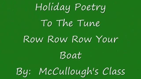 Thumbnail for entry Holiday Poetry