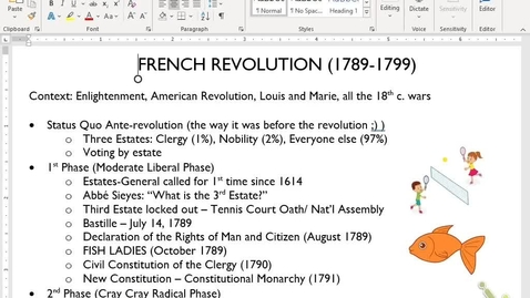 Thumbnail for entry Euro Review 8: French Revolution