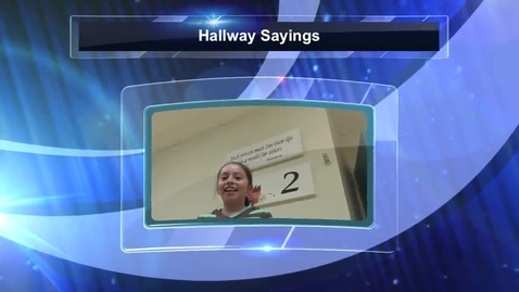 Thumbnail for entry Will Rogers Heroes Presents Hallway Sayings