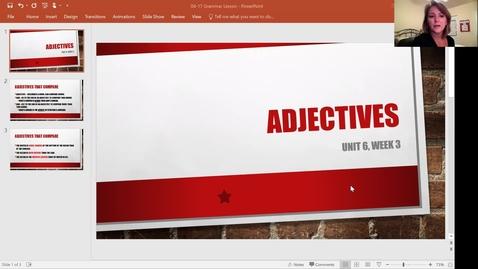 Thumbnail for entry 4-17 Grammar Lesson