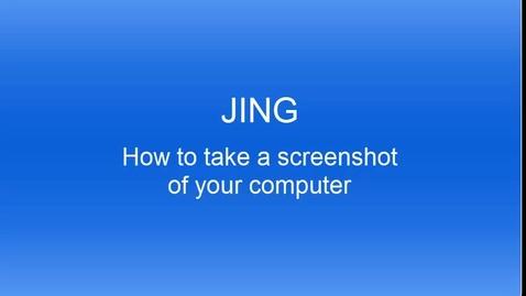 Thumbnail for entry Screencasting using Jing