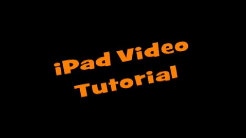 Thumbnail for entry TFS iPad instructional video