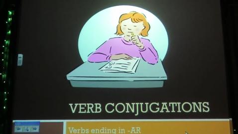 Thumbnail for entry Spanish - Conjugating Verbs