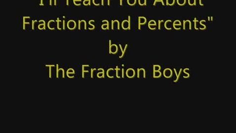 Thumbnail for entry Fraction / Percent Rap