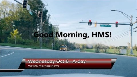 Thumbnail for entry WHMS Morning News Oct 6, 2021