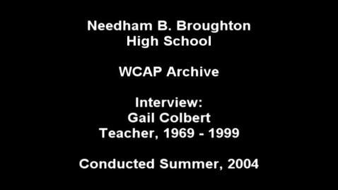 Thumbnail for entry Gail Colbert 2004