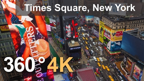 Thumbnail for entry 360°, Times Square, New York, USA, 4K aerial video