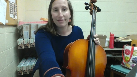 Thumbnail for entry Cello Lesson #2: Week of October 12, 2020