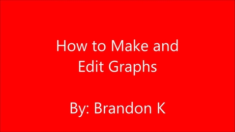 Thumbnail for entry How to Make a Chart