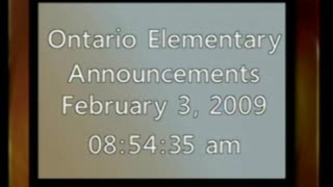 Thumbnail for entry Ontario Elementary Announcements