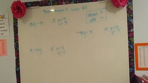 Thumbnail for entry Saxon Algebra 1/2 Lesson 82 (also 81)