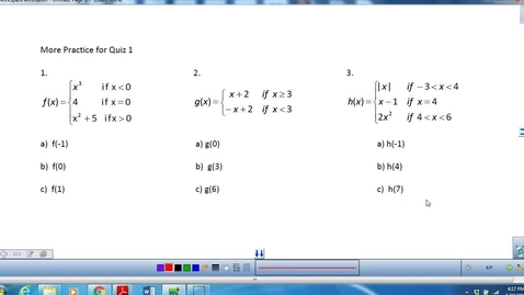 Thumbnail for entry Piecewise Functions and absolute value graphs
