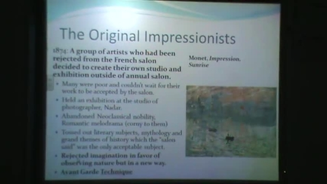 Thumbnail for entry Introduction to Impressionism