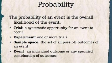 Thumbnail for entry Math 1: Intro to Probability 1