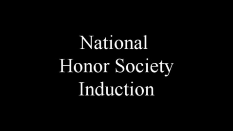Thumbnail for entry National Honor Soceity Induction Ceremony - Prescott High School
