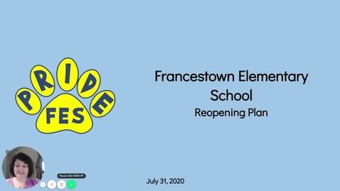 Thumbnail for entry FES Return To School Presentation