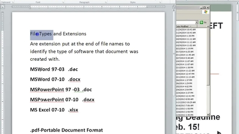 Thumbnail for entry File Types Explanation
