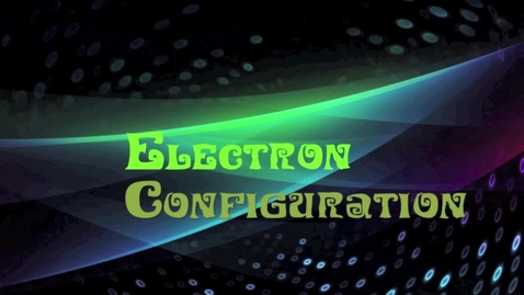 Thumbnail for entry electron configurations
