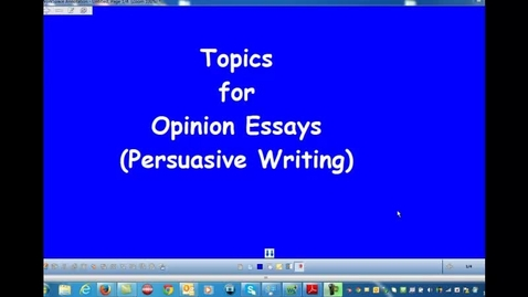 Thumbnail for entry Opinion Topic Ideas