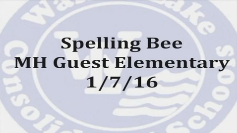 Thumbnail for entry MHG Spelling Bee 2016