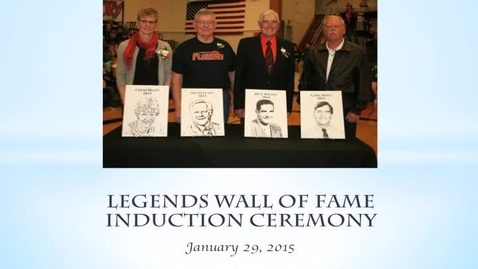 Thumbnail for entry Legends Wall of Fame 2015