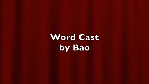 """Thumbnail for entry WordCast 2016: """"Abstain"""""""