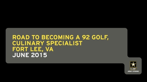 Thumbnail for entry Road to Becoming a 92 Golf, Culinary Specialist