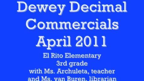 Thumbnail for entry 700s, a Dewey Decimal Commercial