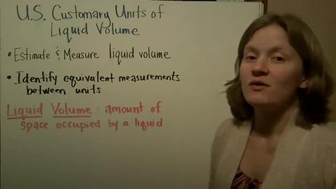Thumbnail for entry Volume:  U.S. Customary Units