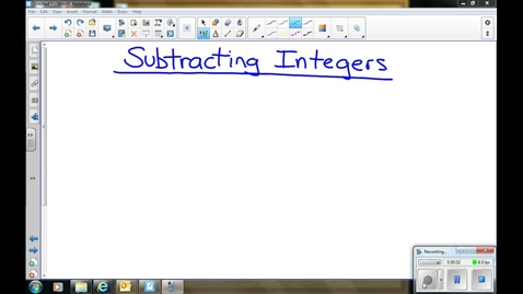 Thumbnail for entry Subtracting Integers