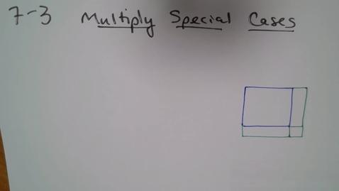 Thumbnail for entry Alg H (E07) TSW 4 Multiplying Special Cases
