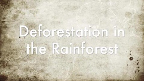 Thumbnail for entry Deforestation