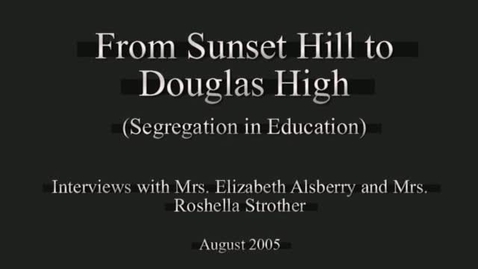 Thumbnail for entry From Sunset Hill to Douglas High