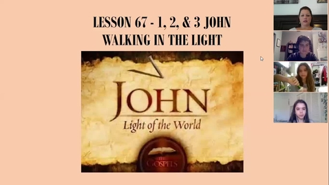 Thumbnail for entry Bible 7A/7C - Lesson 67 - 1,2,3 John