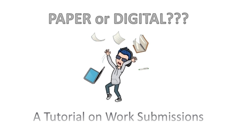 Thumbnail for entry Seneca Remote Learning Paper or Digital Tutorial