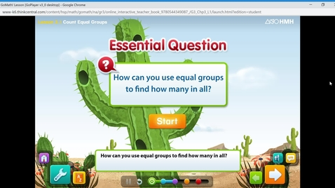 Thumbnail for entry Math Lesson 5.11.20- Equal Groups